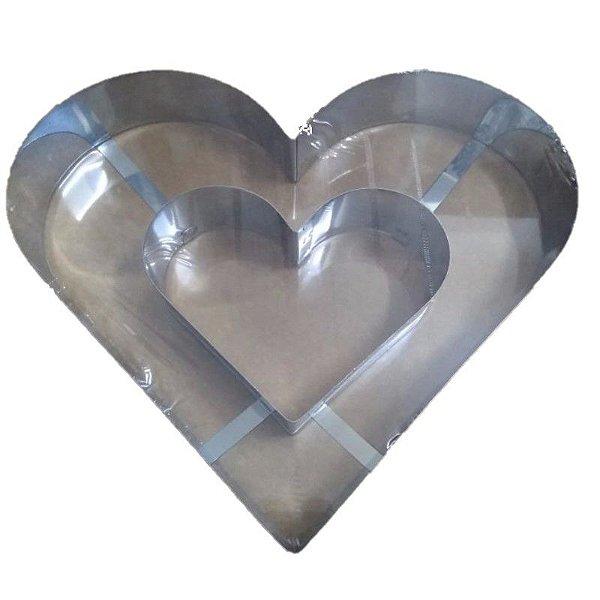 Aro Coração Duplo Doupan Rizzo Confeitaria