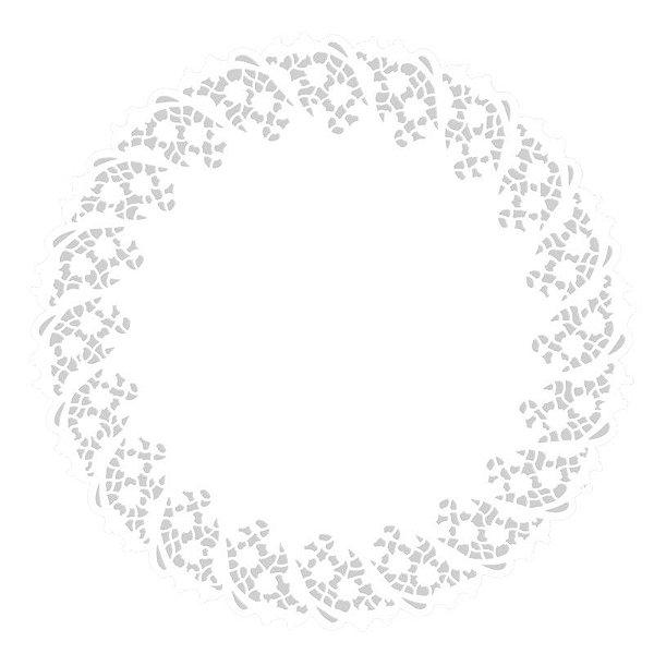 Toalhas Rendadas de Papel Mod. 130 Branca Mago Rizzo Confeitaria