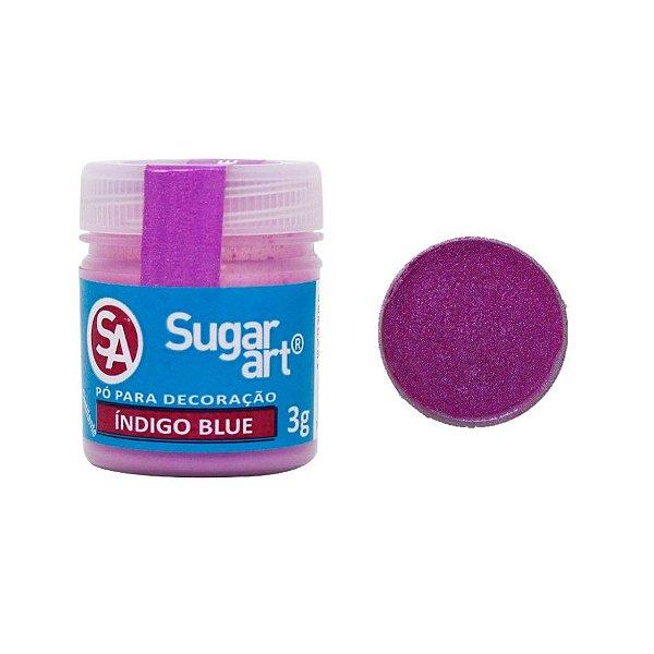 Pó para Decoração Índigo Blue 3g Sugar Art Rizzo Confeitaria