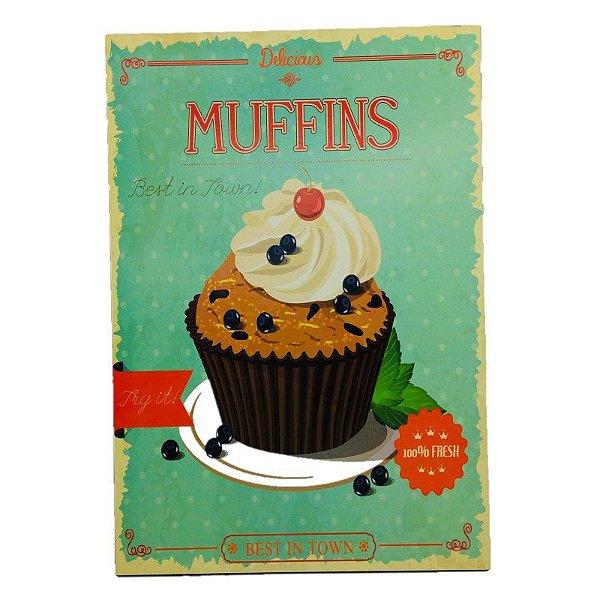 Placa Decorativa Muffins Onyx Rizzo Confeitaria