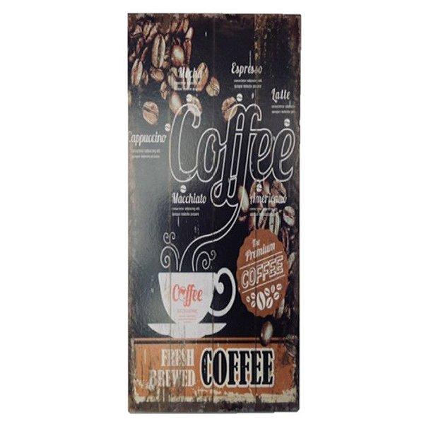 Placa Decorativa Café Mod. 6 Onyx Rizzo Confeitaria
