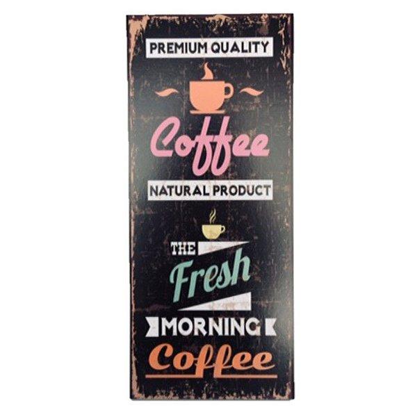 Placa Decorativa Café Mod. 7 Onyx Rizzo Confeitaria