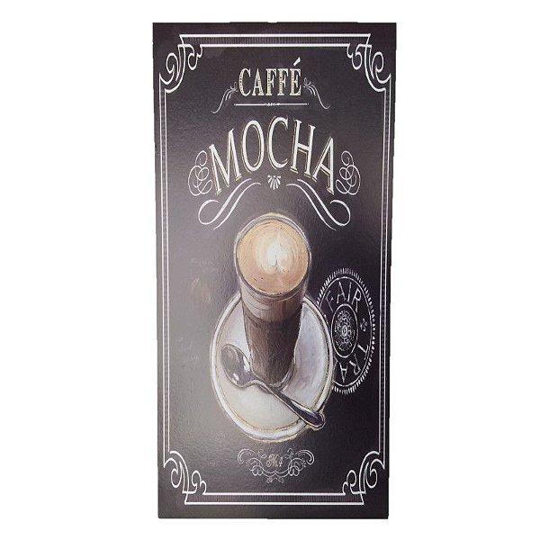 Placa Decorativa Café Mod. 8 Onyx Rizzo Confeitaria