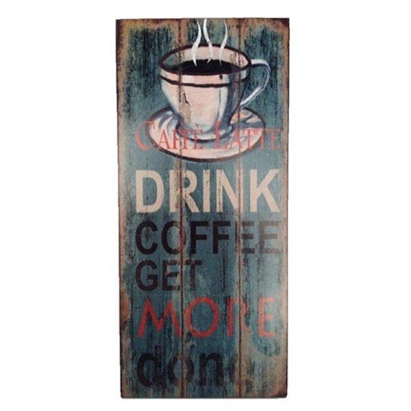 Placa Decorativa Café Mod. 10 Onyx Rizzo Confeitaria