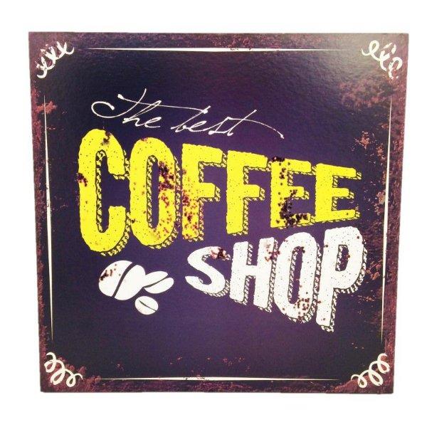Placa Decorativa Café  Mod. 16 Onyx Rizzo Confeitaria