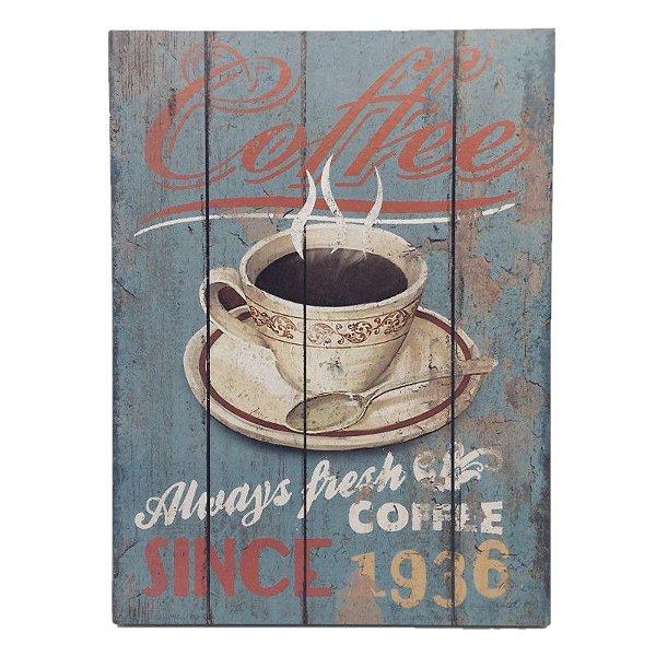 Placa Decorativa Café Mod. 19 Onyx Rizzo Confeitaria
