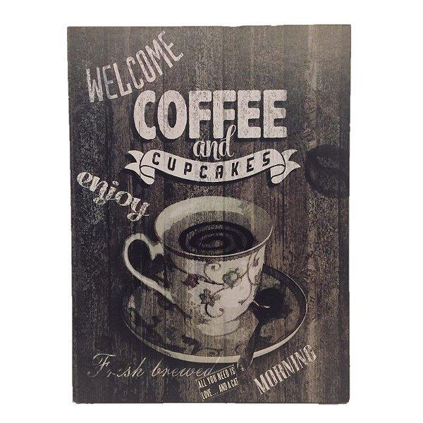 Placa Decorativa Café Mod. 24 Onyx Rizzo Confeitaria