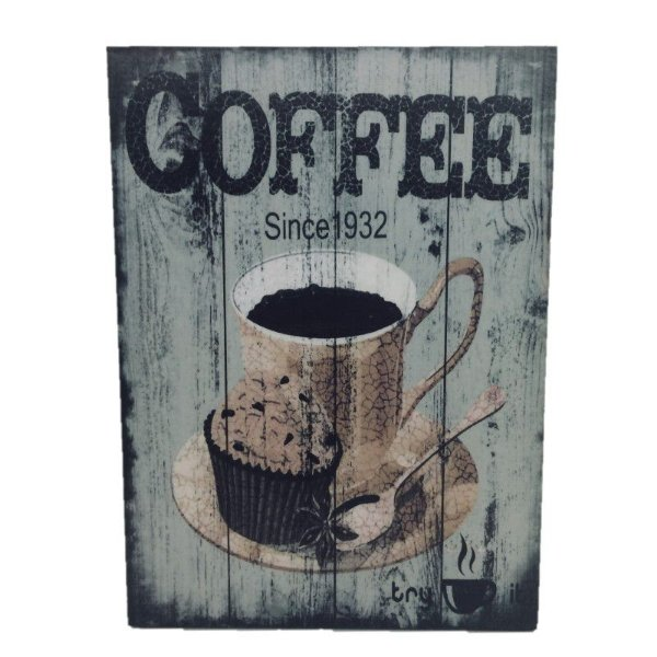 Placa Decorativa Café Mod. 25 Onyx Rizzo Confeitaria