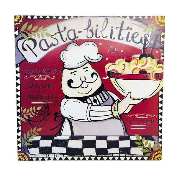 Placa Decorativa Chef Cozinheiro Mod. 1 Onyx Rizzo Confeitaria