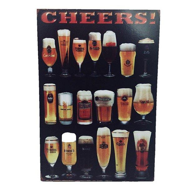Placa Decorativa Bebidas Mod. 3 Onyx Rizzo Confeitaria