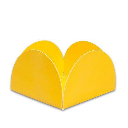 Forminha 4 Pétalas Amarela com 50 un. Miss Embalagens Rizzo Confeitaria