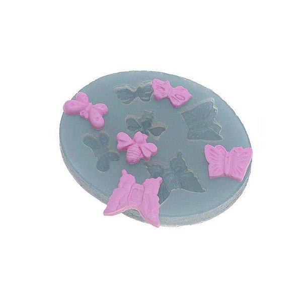 Molde de silicone Borboletas Ref. 116 Flexarte Rizzo Confeitaria
