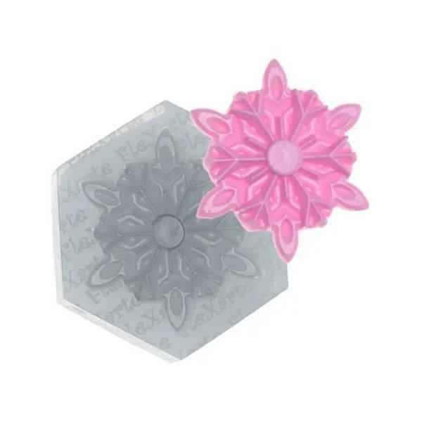 Molde de silicone Floco de Neve Ref. 246 Flexarte Rizzo Confeitaria