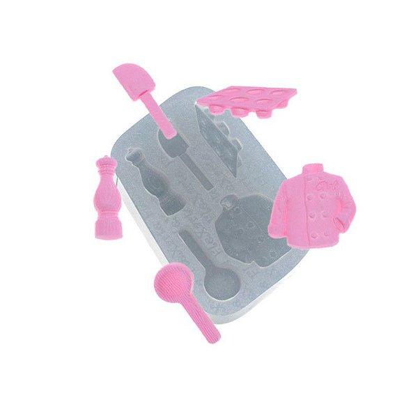 Molde de silicone Utensílios com Dolma Ref. 535 Flexarte Rizzo Confeitaria