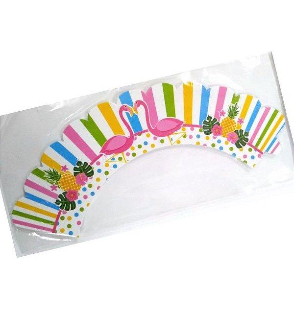 Wrapper para CupCake Tradicional Flamingo Cod. 67.2 com 12 un. Nc Toys Rizzo Confeitaria