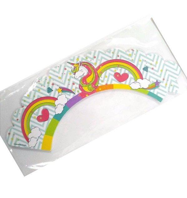 Wrapper para CupCake Tradicional Unicónio Cod. 68.2 com 12 un. Nc Toys Rizzo Confeitaria