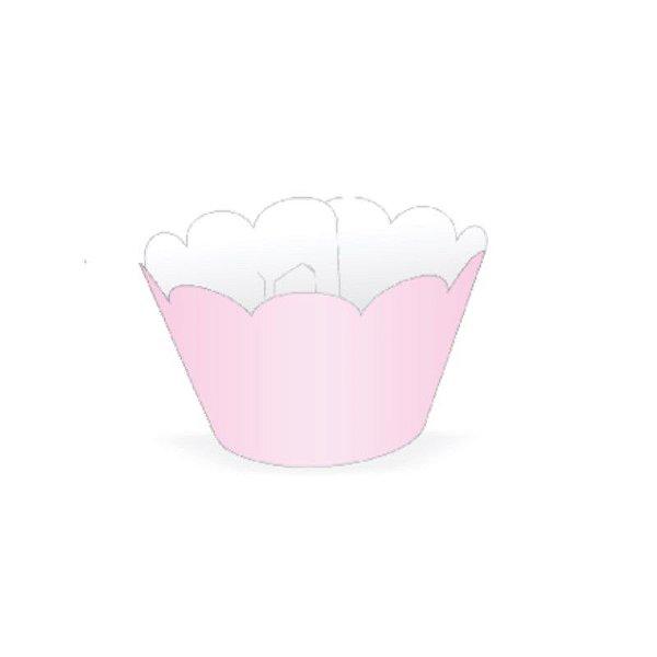 Mini Wrapper para CupCake Rosa Cod. 20.6 com 12 un. Nc Toys Rizzo Confeitaria