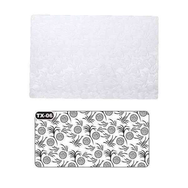 Placa de Textura para Chocolate Girassol Mod. 6 Crystal Rizzo Confeitaria