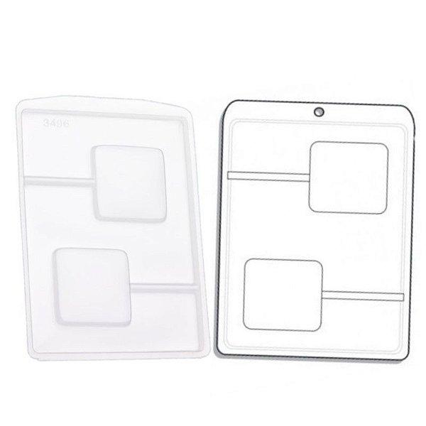Forma de Acetato Quadrado Mod. 3496  Crystal Rizzo Confeitaria