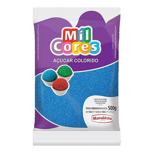 Açúcar Cristal Azul 500 g Mil Cores Mavalério Rizzo Confeitaria