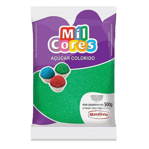 Açúcar Cristal Verde 500 g Mil Cores Mavalério Rizzo Confeitaria
