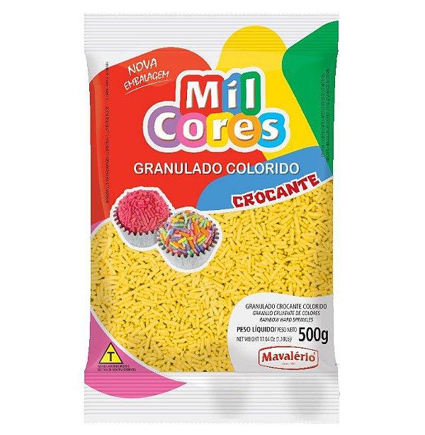 Granulado Crocante Amarelo Aquarela 500 g Mil Cores Mavalério Rizzo Confeitaria