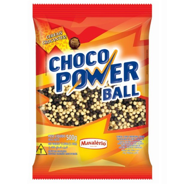 Choco Power Ball Mini Chocolate ao Leite e Branco 500 g Mavalério Rizzo Confeitaria