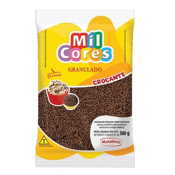 Granulado Crocante Sabor Chocolate 500 g Mil Cores Mavalério Rizzo Confeitaria