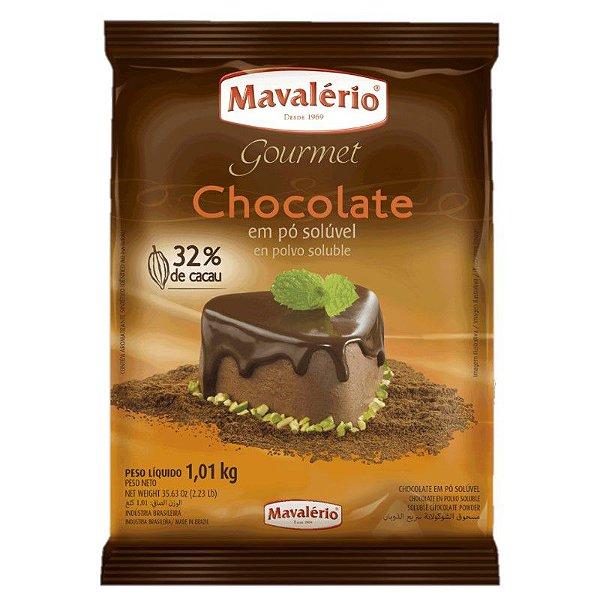 Chocolate em Pó Solúvel 32% Cacau 1 kg Mavalério Rizzo Confeitaria