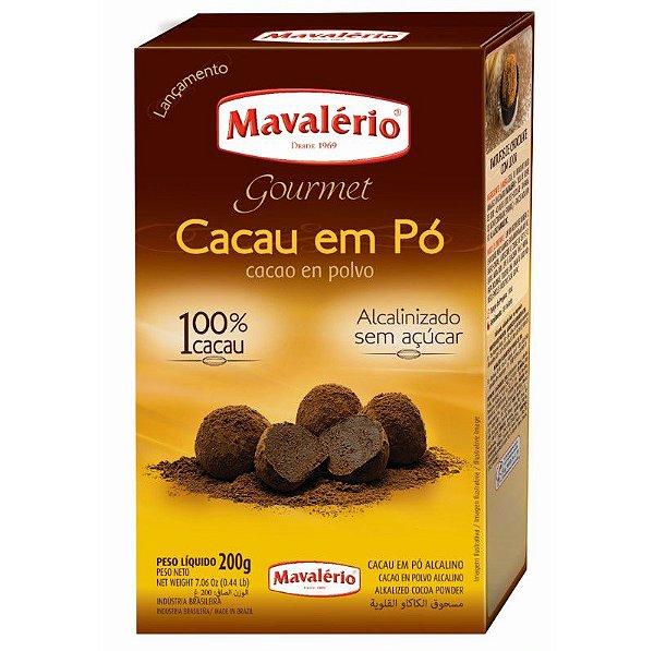 Chocolate em Pó Solúvel 32% Cacau 200 g Mavalério Rizzo Confeitaria