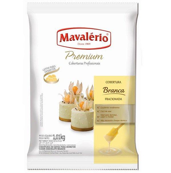 Cobertura em Gotas para derreter Chocolate Branco 1 kg Mavalério Rizzo Confeitaria