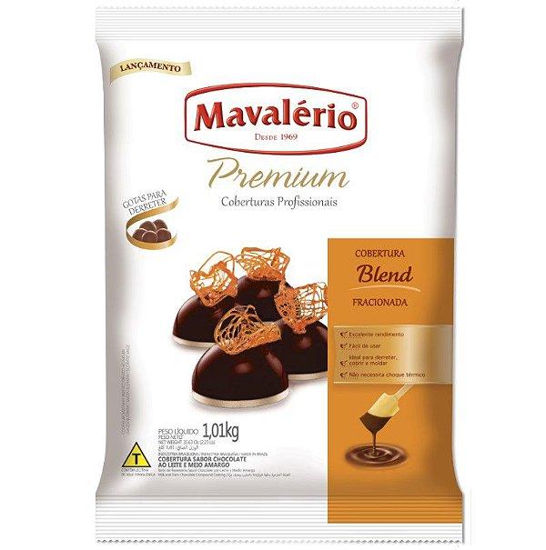 Cobertura em Gotas para derreter Chocolate Blend 1 kg Mavalério Rizzo Confeitaria