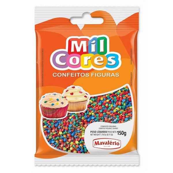 Confeito Figura Mini Confete 150 g Mil Cores Mavalério Rizzo Confeitaria