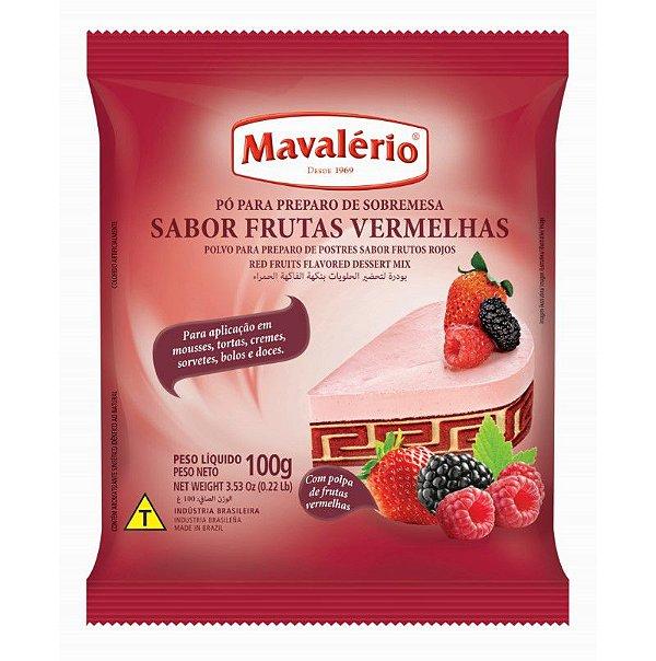 Pó para Preparo de Sobremesas Sabor Frutas Vermelhas 100 g Mavalério Rizzo Confeitaria