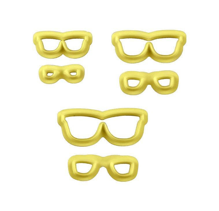 Kit Cortador de Óculos com 3 peças Blue Star Rizzo Confeitaria