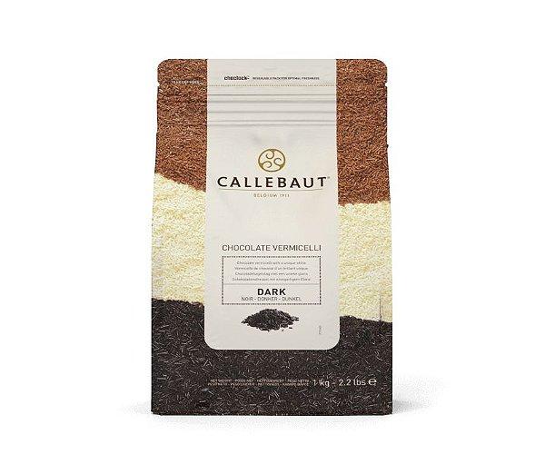Chocolate Callebaut Amargo Vermicelli CHK-D-E2-U68 Granulado 1 kg Rizzo Confeitaria