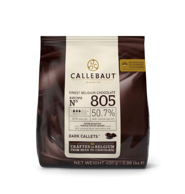 Chocolate Callebaut Amargo 805-BR-D94 Gotas 400 g Rizzo Confeitaria