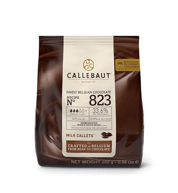 Chocolate Ao Leite Belga em Gotas Callebaut 400g - 823-BR-D94 - Rizzo Confeitaria
