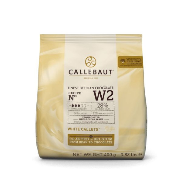 Chocolate Callebaut Branco - W2-BR-D94 Gotas 400 g Rizzo Confeitaria