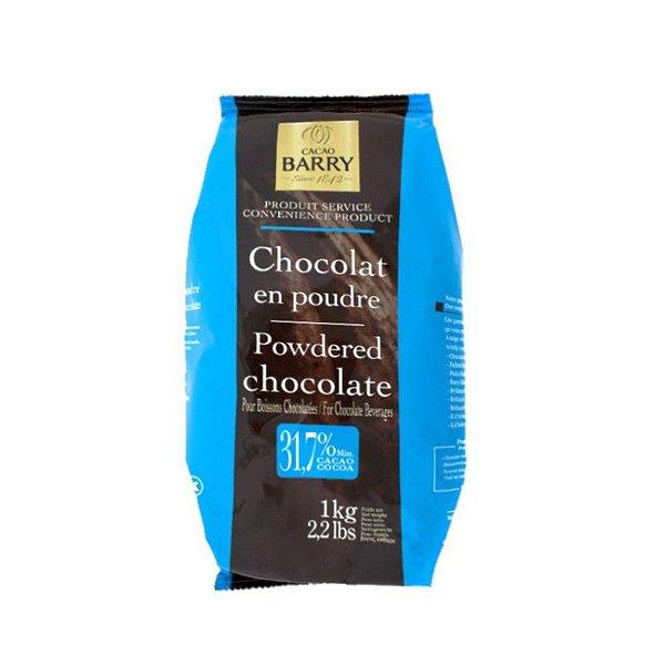 Chocolate em pó 31,7% Cacau 1 Kg Cacao Barry Rizzo Confeitaria