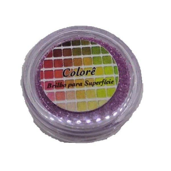 Brilho para superficie, Gliter Rosa Claro 27PP 1,5g LullyCandy Rizzo Confeitaria