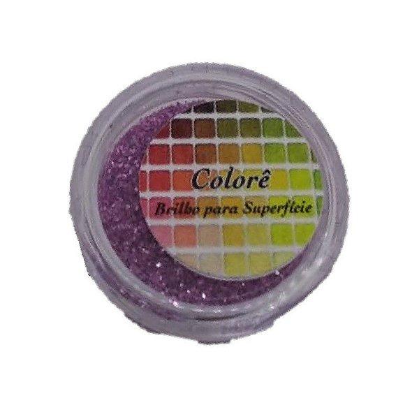 Brilho para superficie, Gliter Rosa 21PP 1,5g LullyCandy Rizzo Confeitaria