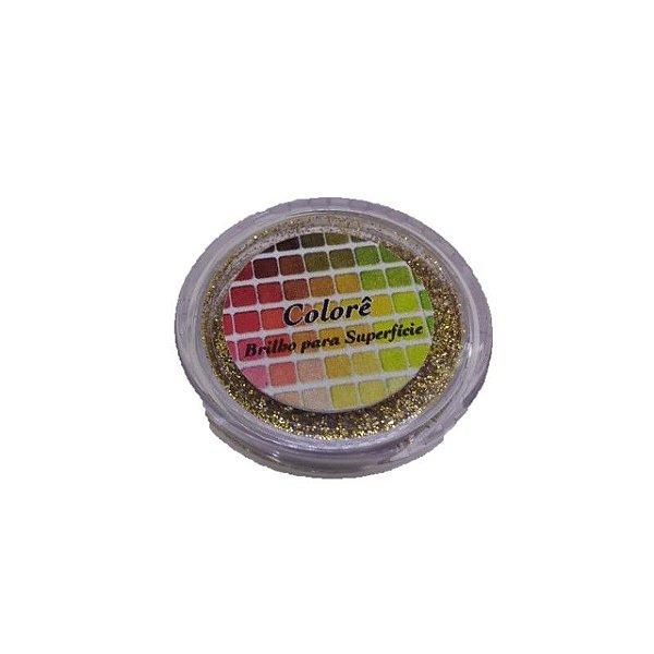 Brilho para superficie, Gliter Dourado com Branco 38PP 1,5g LullyCandy Rizzo Confeitaria