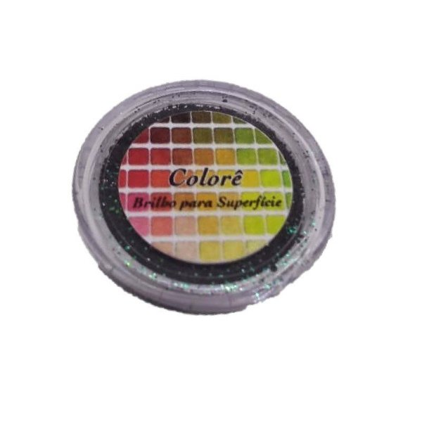 Brilho para superficie, Gliter Verde com Preto 8PP 1,5g LullyCandy Rizzo Confeitaria