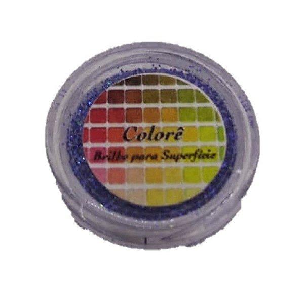 Brilho para superficie, Gliter Azul 13PP 1,5g LullyCandy Rizzo Confeitaria