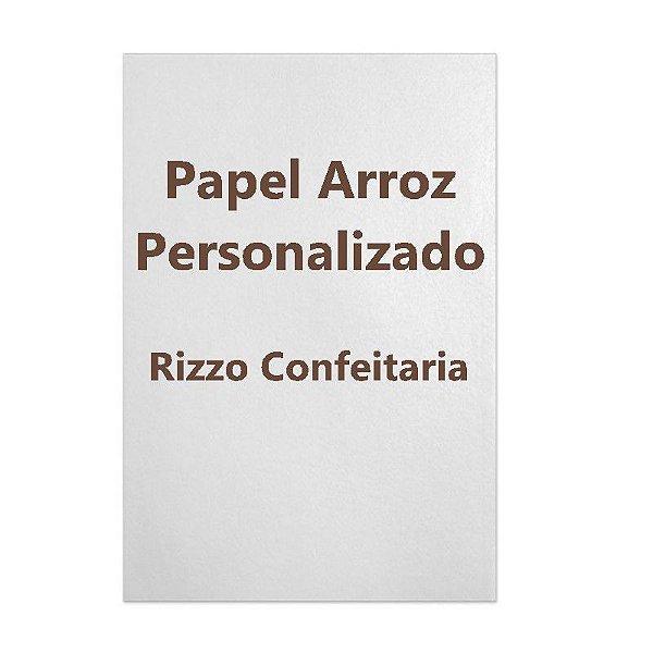 Papel Arroz Personalizado A4  com 1 un. Rizzo Confeitaria