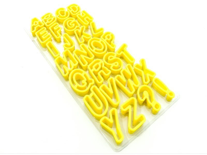 Kit Cortador Alfabeto com 28 peças Doupan Rizzo Confeitaria