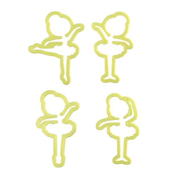 Kit Cortador de Bailarina com 4 peças Blue Star Rizzo Confeitaria