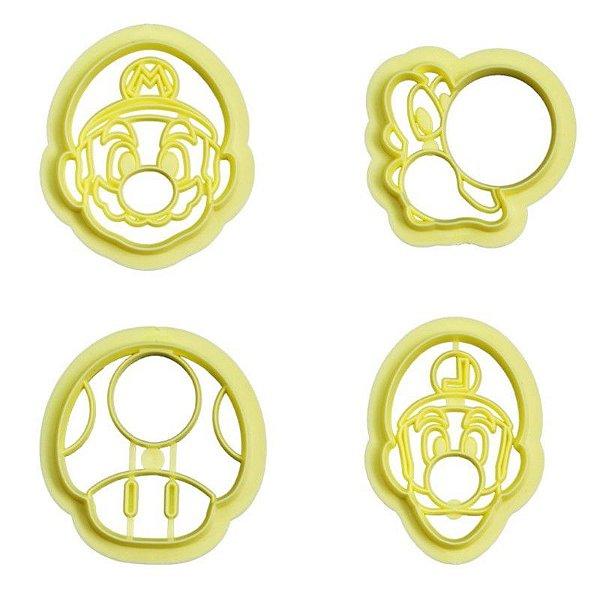 Kit Cortador Mario com 4 peças Blue Star Rizzo Confeitaria