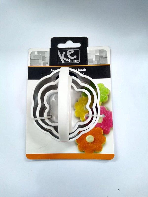 Kit Cortador Florais 3 pç KE Home  Rizzo Confeitaria